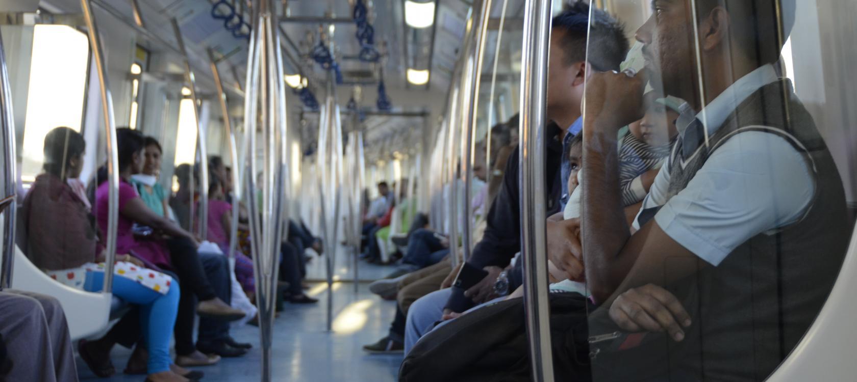 métro, transport, Bangalore, Inde