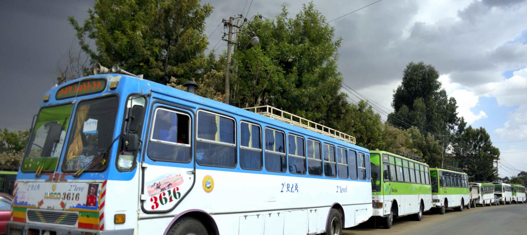 First Bus Rapid Transit lane in Addis Ababa / Didier Gentilhomme AFD