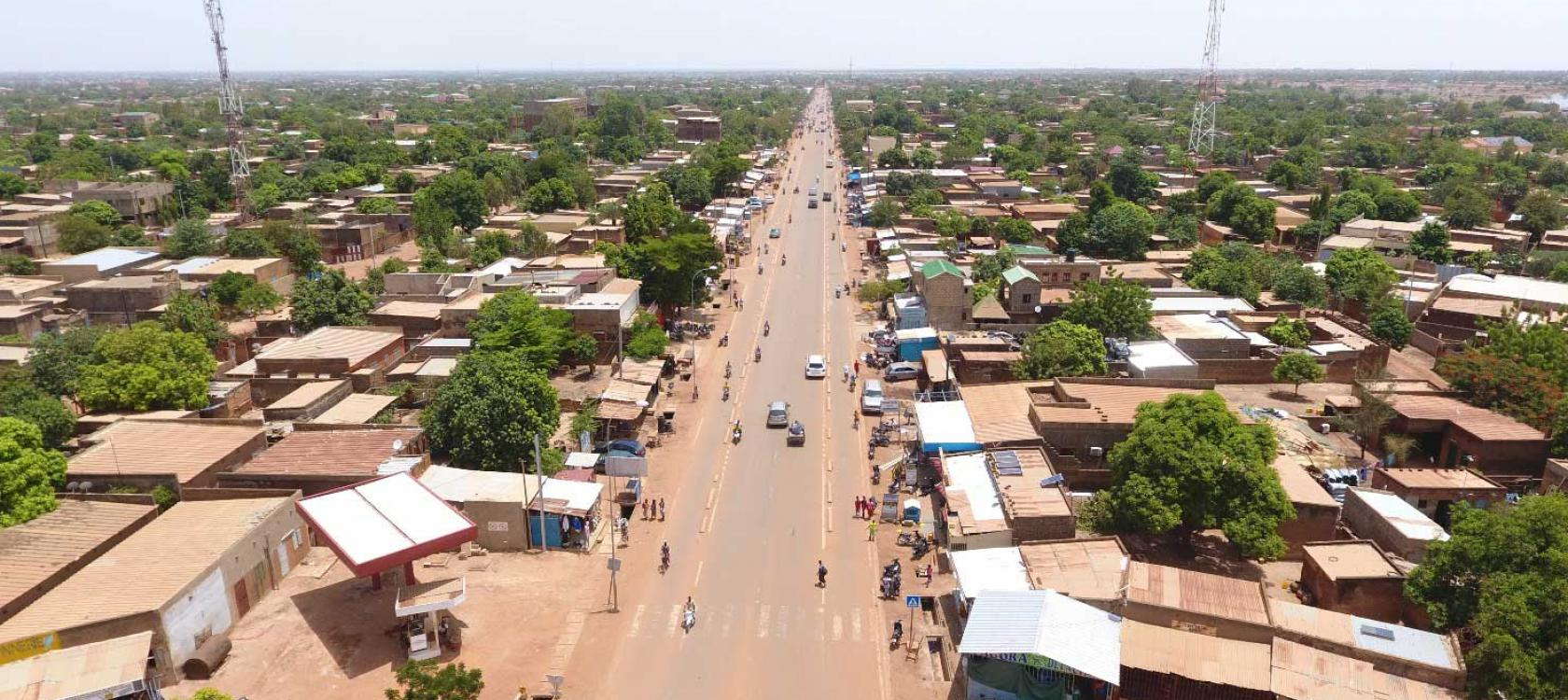 Resurfaced road, Ouagadougou, Burkina Faso