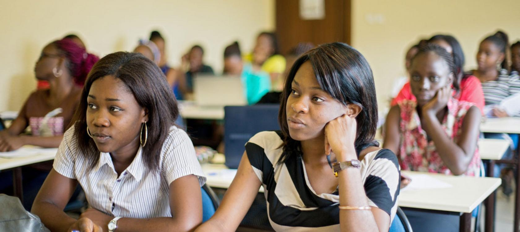 Étudiantes, Kinshasa, RDC,éducation