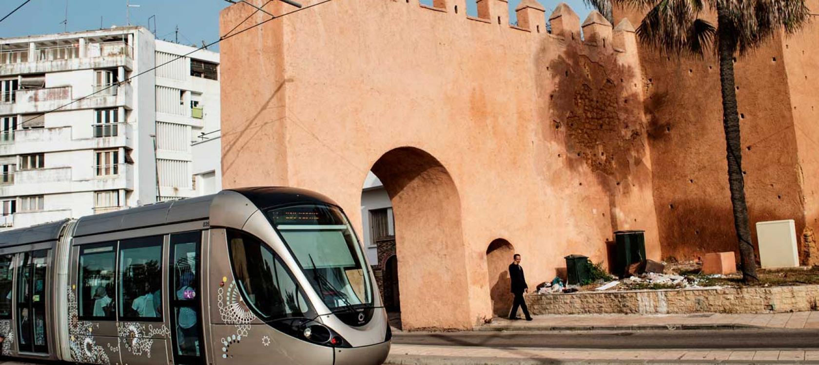 tramway Rabat-Salé, Maroc, transport