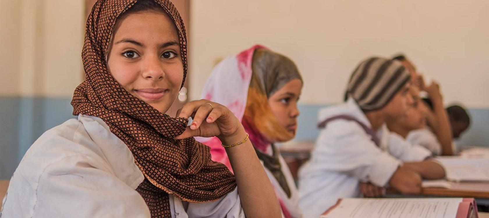 Mauritanie, étudiantes du lycée Arafatt, Nouakchott