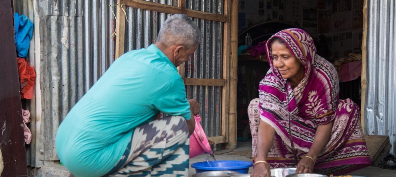 Bangladesh, water supply, homeless, clean and healthy water, poor, Agence Française de Développement