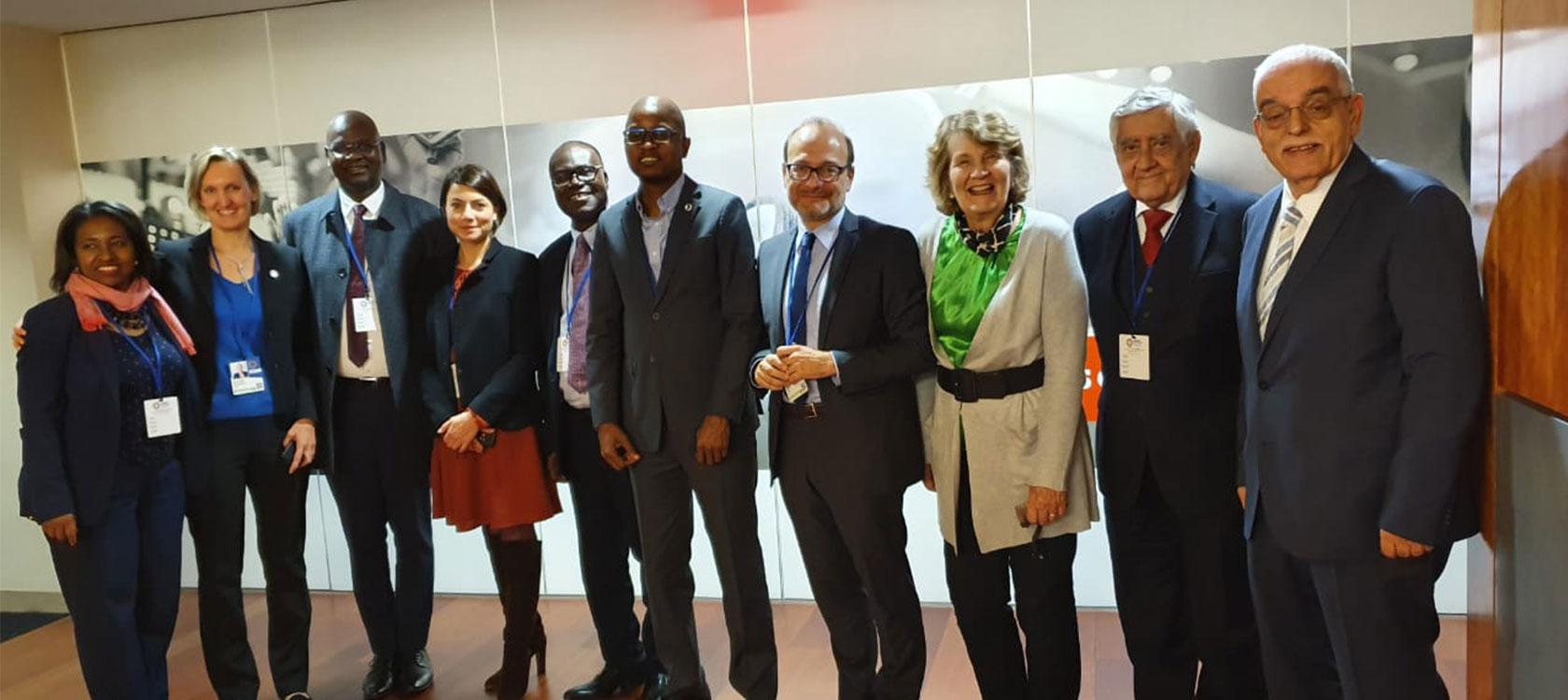 IDFC, Rémy Rioux (centre) with colleagues, Meeting with WFDFI