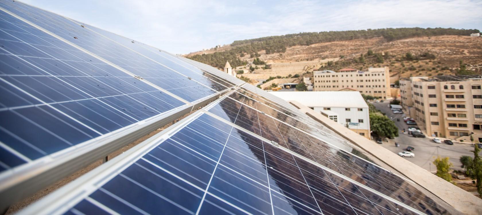 Jordanie, panneaux solaires